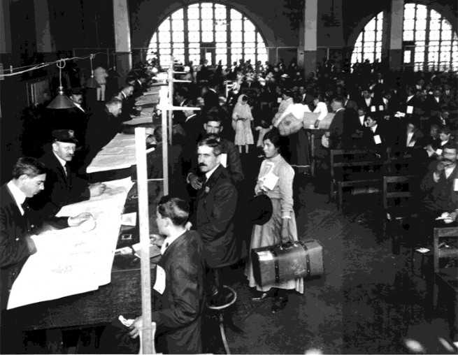 Ellis Island inspection