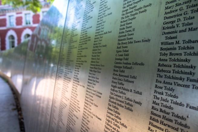 Ellis Island Names On Wall