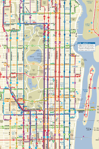 nyc bus map Walks of New York