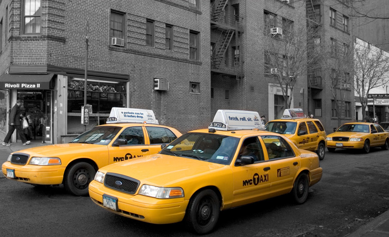 nyc taxis. Black Bedroom Furniture Sets. Home Design Ideas
