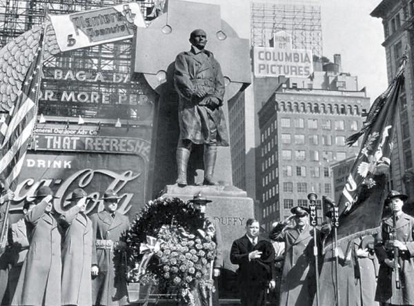 Dedication of Duffy Square