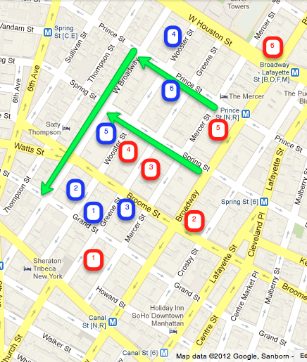 Soho highlights map