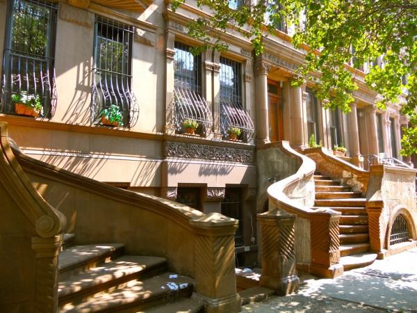 Brownstones in Harlem New York
