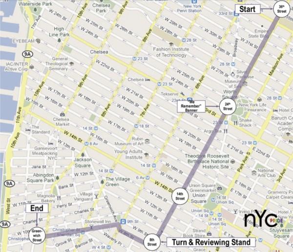Pride March route 2012
