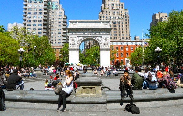 The Greenwich Village's Washington Square Park