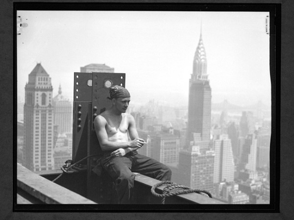 Hine Empire State Building Construction