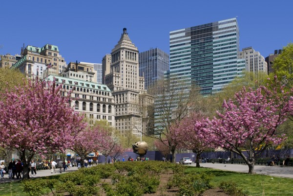 Battery Park in Manhattan