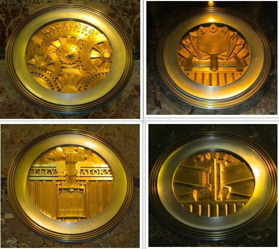 Brass medallions Empire State Building