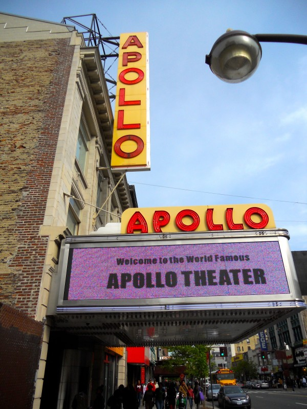 The Apollo Theater marquee