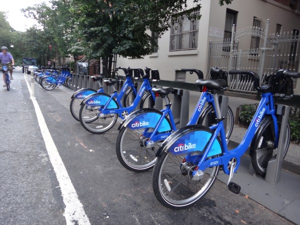 Citi bikes for bike sharing in NYC