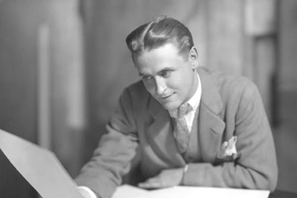 F Scott Fitzgerald, author of Great Gatsby