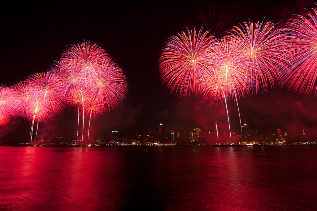 Fuegos artificiales del 4 de julio de Macy's