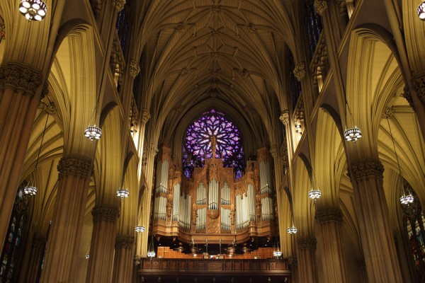 St Patrick's Rose Window and Organ, NYC