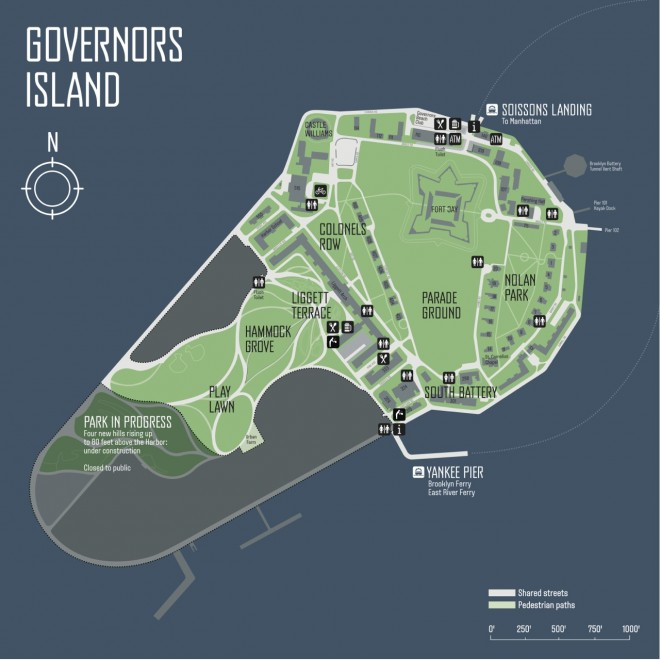 Governors Island map