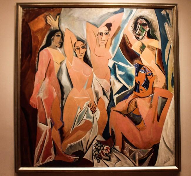 Picasso, Les Demoiselles d'Avignon, MoMa