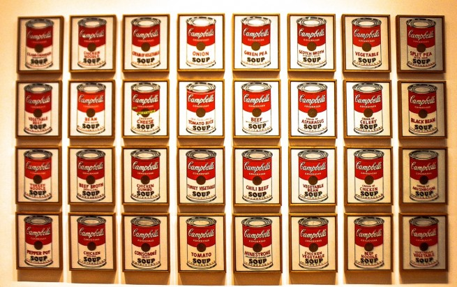 Warhol Campbell's Soup Cans, MoMa