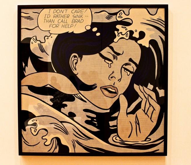 Lichtenstein, niña ahogada, MoMa