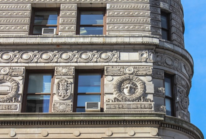 Ornamento en el Flatiron Building, Nueva York