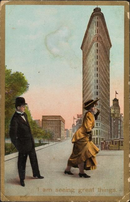 Flatiron Building vintage postcard