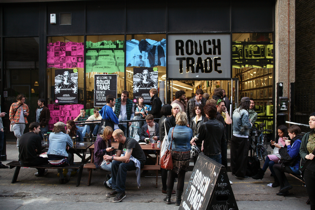 The facade of Rough Trade, one of the best places to see live music in NYC. Photo courtesy of Spencer Hickman, via Flickr: https://www.flickr.com/photos/donnierobot/3503062679/in/photolist-6ky7up-r4AFbn-8rfAZR-bosMVL-rY72pS-3jS8oV-fZNvsX-6kFMfj-6kCeEJ-7wJ7Ds-fZNTDt-e5ovoz-7vFGtL-7vBTng-e5ovUR-7wBX1W-7wyaMg-pMTqXy-e5ox3z-e5udof-rZrJsu-rKaDFL-nRLwf5-rHWDcv-r4AJcx-6su97w-8mNBfk-7vBTe2-e5oxKX-e5oyA8-e5uaFG-e5owS2-6kFR53-6kFLYf-7vgEbH-5YqZtN-s2JRoX-rZrMTN-s2FezK-6kBEQD-6kFQRS-r5Wq8a-6kFKvN-6kBBG8-6kBA5z-6kFLpb-6kBAWk-6kBAnZ-6kkDrP-7U5aPB