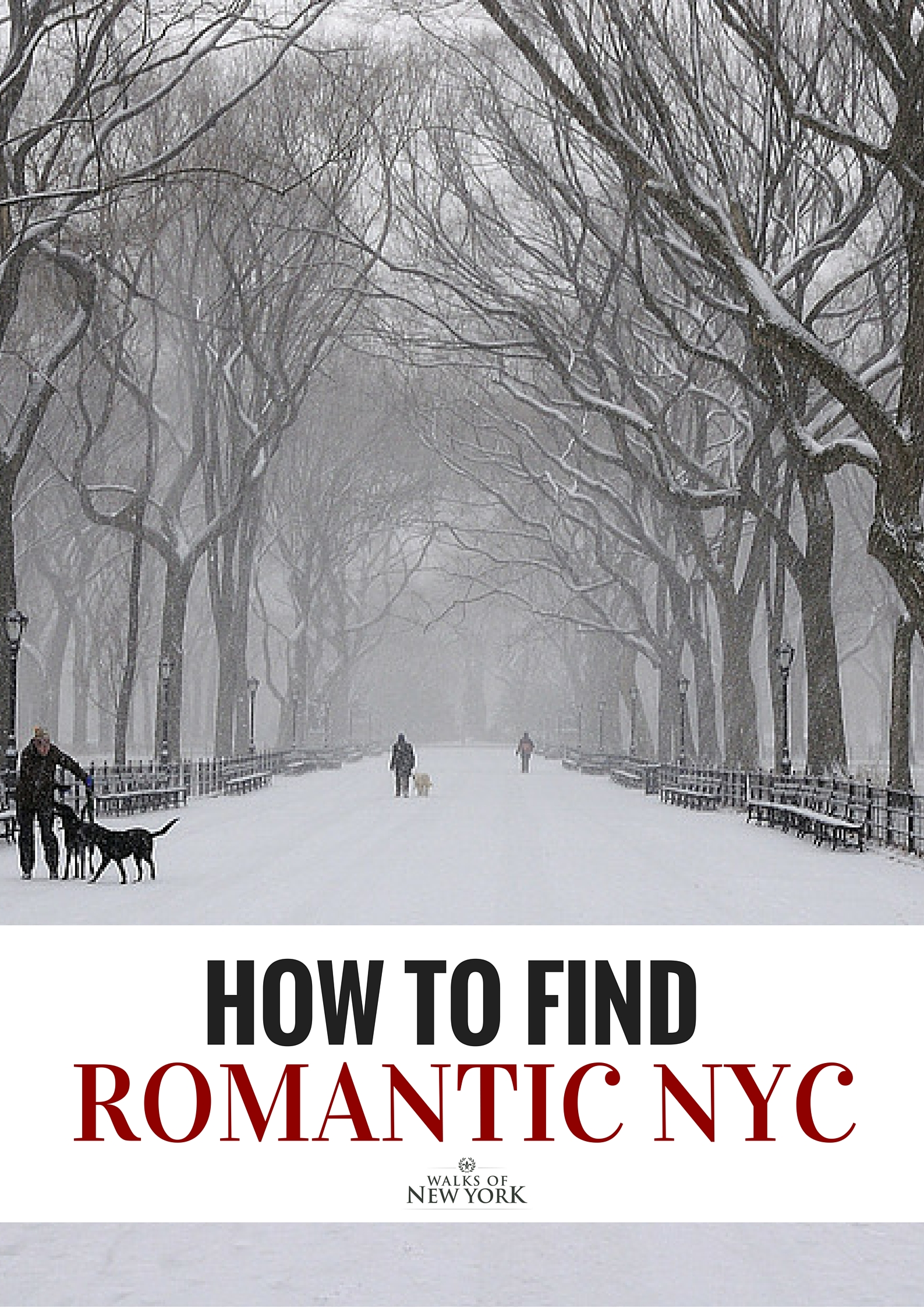 Walking through central park on a snowy day is one of the most romantic things to do in New York. Find out other great romantic options in our blog. Photo courtesy of Ralph Hockens Via Flickr.