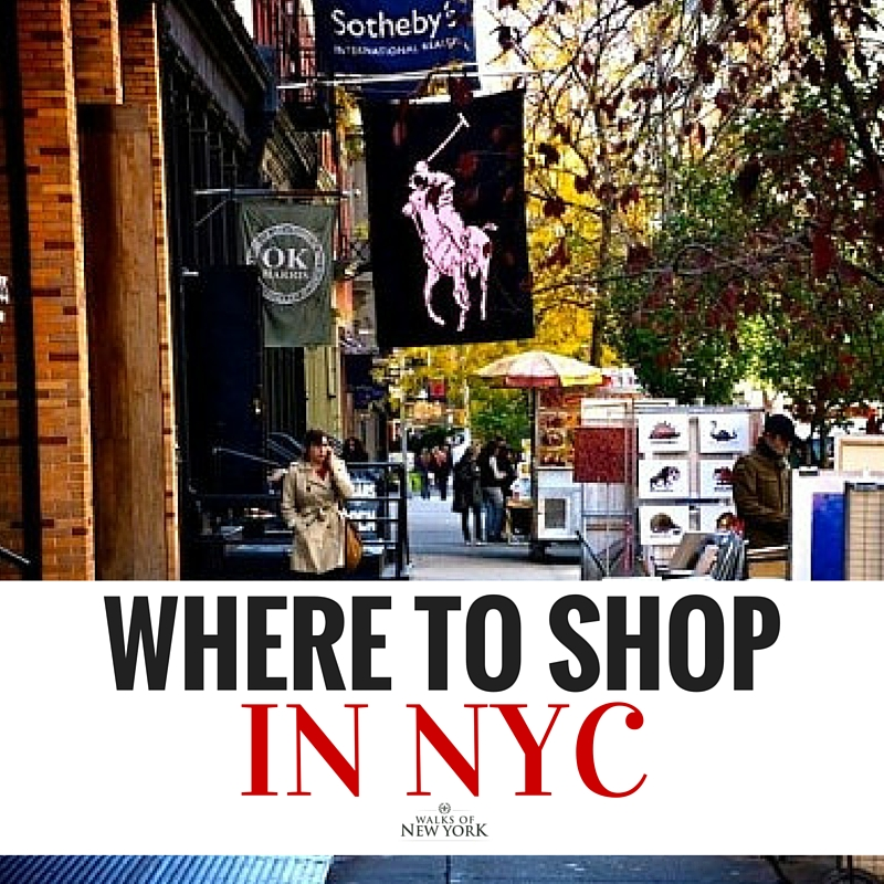 A shopping street in SoHo. Read the Walks of New York guide for shopping in NYC.