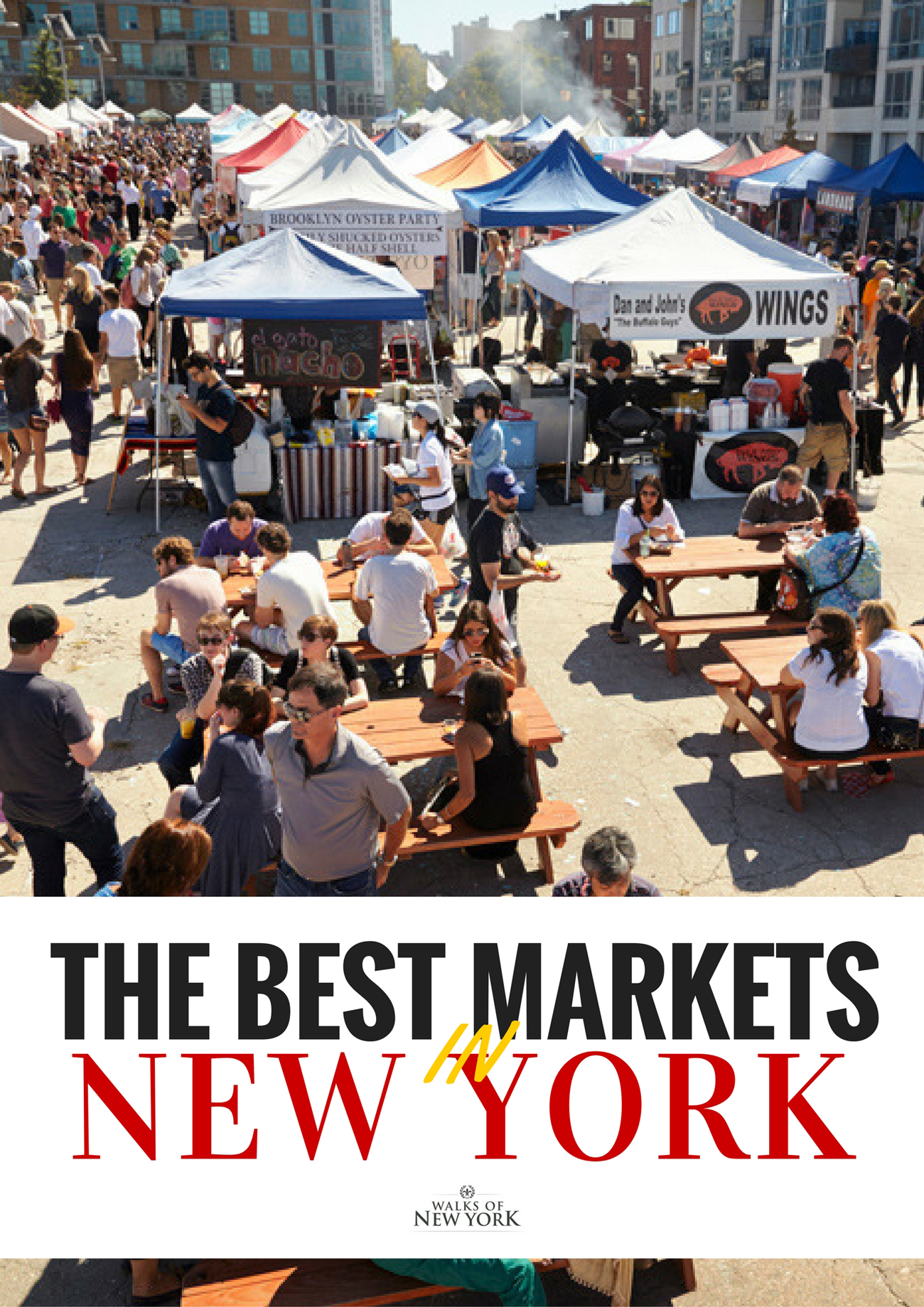 Smorgasburg is one of the best markets in NYC. Find out which markets you should visit on your next trip.