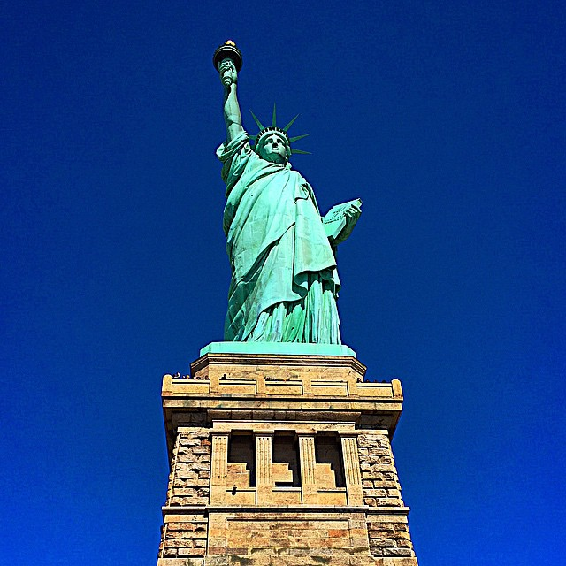 Gorgeous morning exploring Lady Liberty on our Statue of Liberty/Ellis Island tour. Amazing!!