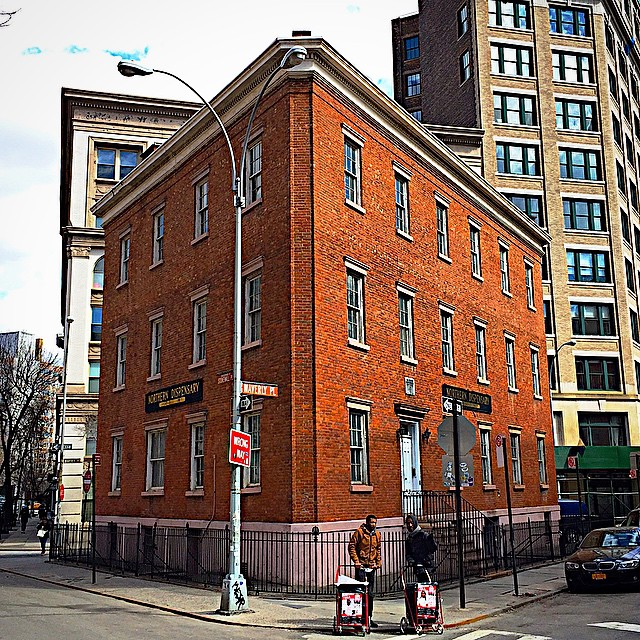 Before the Flatiron Building, there was the triangular Northern Dispensary (1827), it was built to aid the city's poor and sick - among its patients...Edgar Allan Poe.