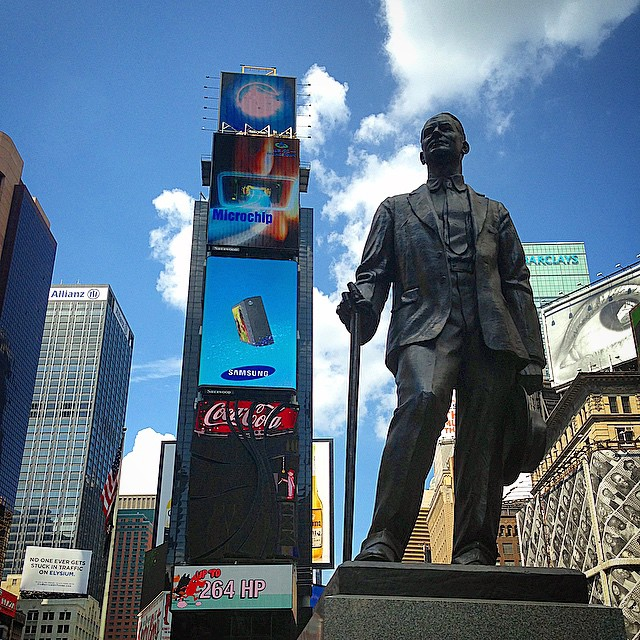 """Give my regards to Broadway..."" George M. Cohan surveys the Great White Way, which he dominated and immortalized. Have you seen a Broadway show recently?"