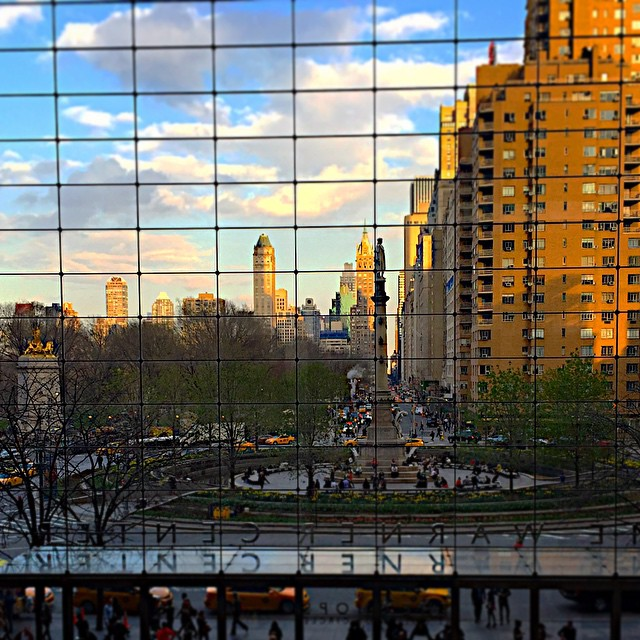 "Columbus Circle in the ""golden hour,"" seen from Time Warner Center. Magical."