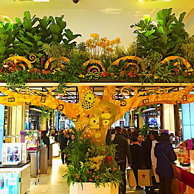 Klimt-inspired florals at the Macy's Flower Show.