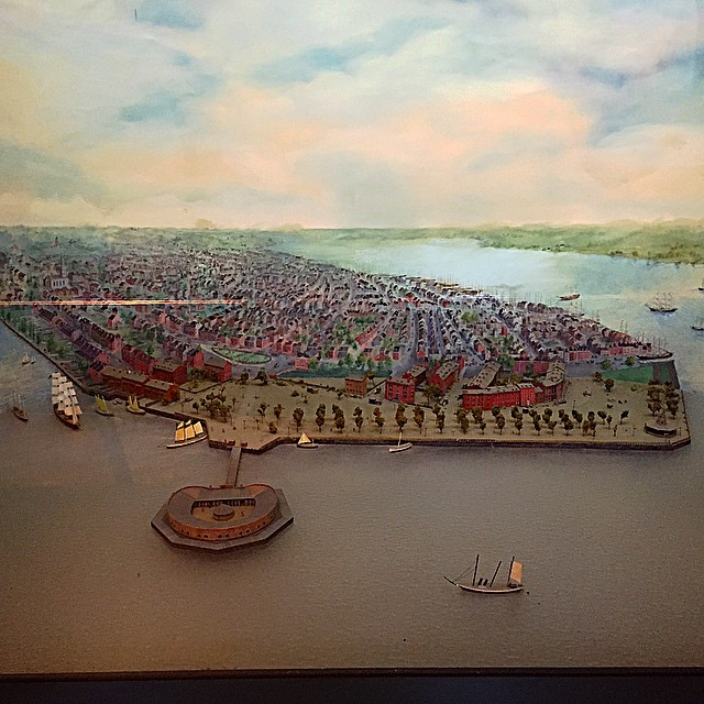 New York City: 1812. No, I wasn't there! This is one of the intriguing (oft overlooked) dioramas in Castle Clinton.